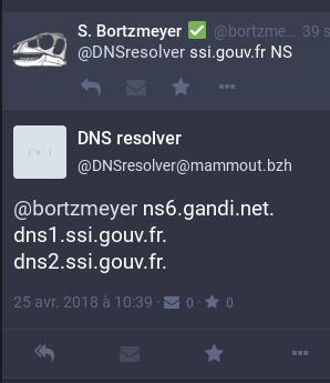 Blog Stéphane Bortzmeyer: A Fediverse/Mastodon bot for DNS queries